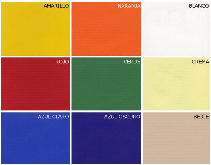 Markýzy vzorník Polyester + PVC