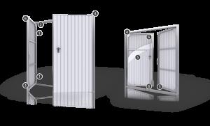 Ocelová křídlová vrata